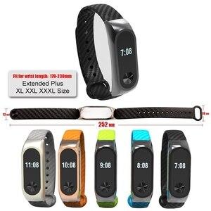 Image 5 - Ollivan Silicone Cinturino In Fibra di Carbonio per Xiaomi Mi Banda 2 Wristband Smart Accessori Per Mi Band 2 Braccialetto Miband 2 cinturino da polso