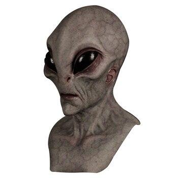 fortnites dekoration Halloween Alien Mask Scary Horrible Horror Alien mask Magic Mask Hat with ears moving шапка с ушками 2