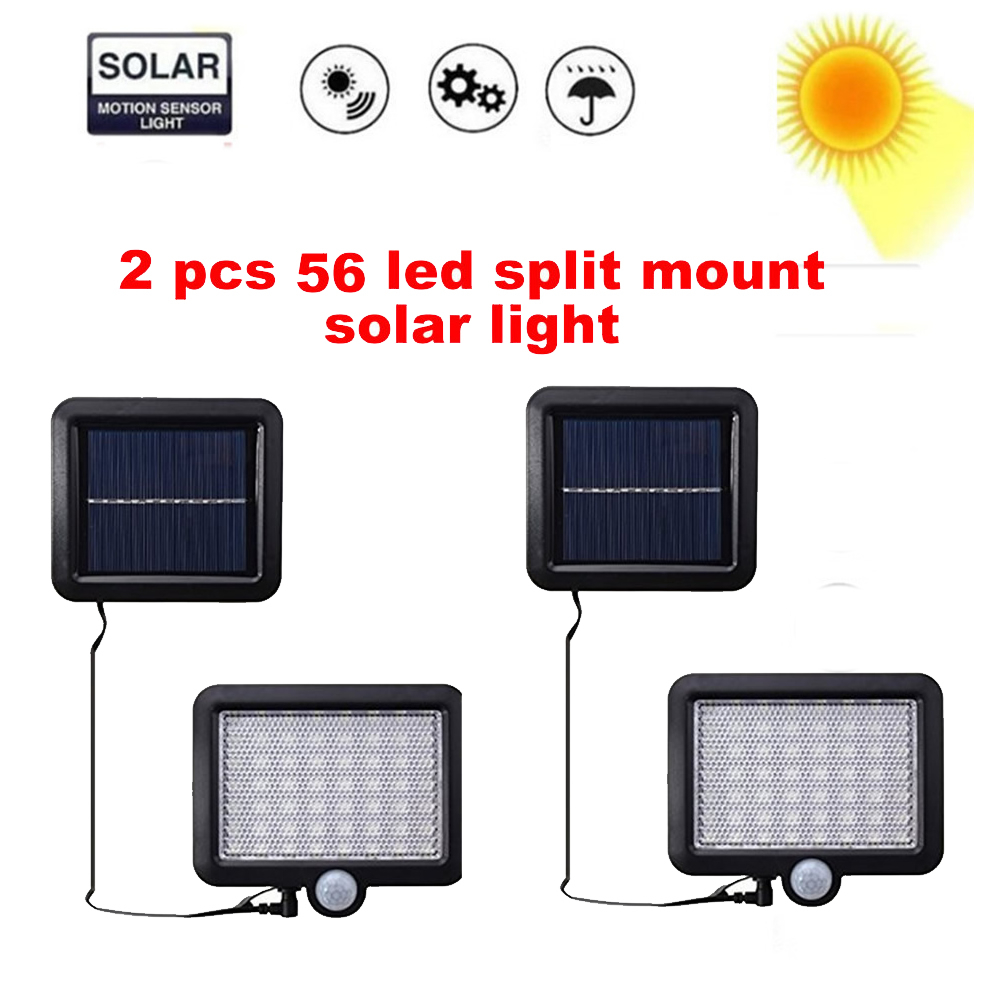 2/4pcs Led Solar Light Power Garden Lamp Solar Lighting 100/56/30 Led Warm White Pole PIR Motion Sensor Waterproof For