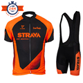Летом команда STRAVA оранжевый Велоспорт Джерси комплект горный велосипед Велоспорт одежда Мужская Pro гоночный велосипед Велоспорт Комплект ...