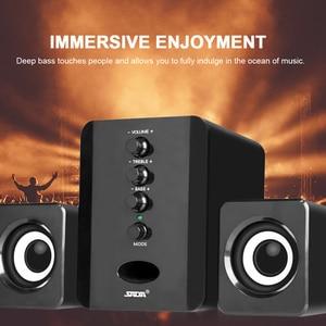 Image 2 - SADA D 202 Combinazione di Altoparlanti USB Del Computer Via Cavo Altoparlanti Bass Stereo del Giocatore di Musica Subwoofer Sound Box per PC Smart phone