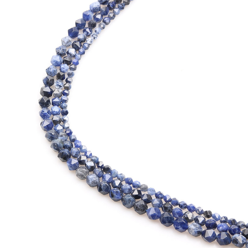 wholesale Natural Loose Round Faceted Stone Beads Lapis Lazuli For Jewelry Making Bracelet 6/8/10mm Pick