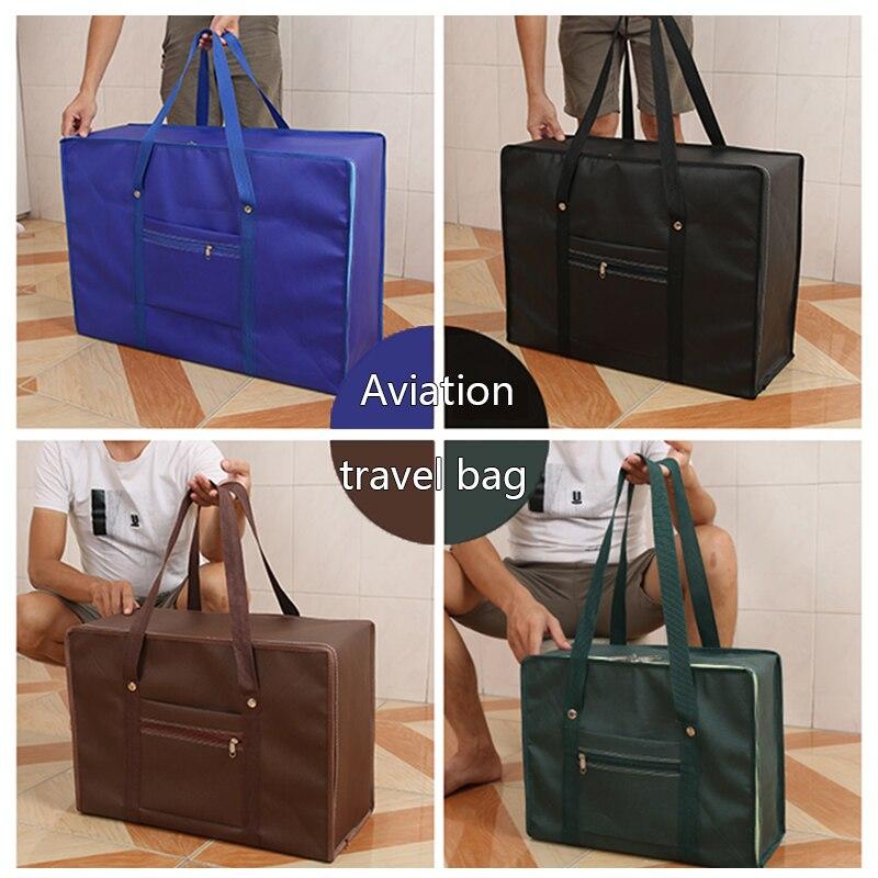 Large-capacity Thickening Travel Bag, Aviation Boarding Luggage Bag, Vacation Trip Clothing Storage Bag Aircraft Shipping Bag