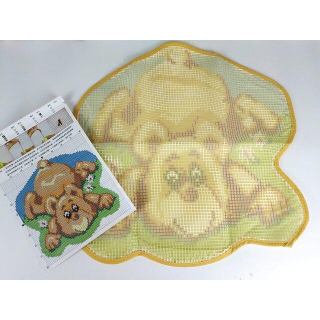 Kit de tapis crochet de verrouillage faire votre propre tapis Lion amitié crochet coussin bricolage tapis tapis acrylique fil imprimé toile Hobby & Craft