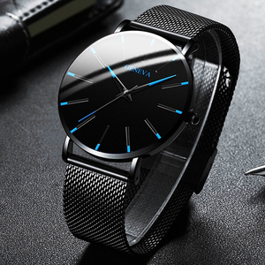 Men Watches 2020 Luxury Male Elegant Ultra Thin Watch Men Business Stainless Steel Mesh Quartz Watch Relogio Masculino Hot Sale