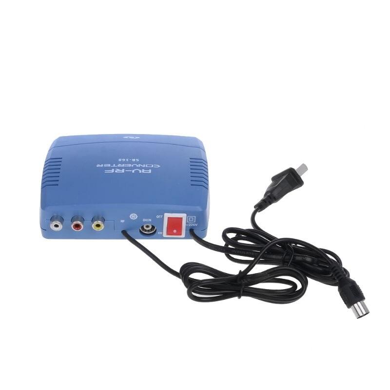 OOTDTY AV-RF Converter Television System TV Signal Standard Audio Video Signal Modulator TV 220V Stereo Double Track