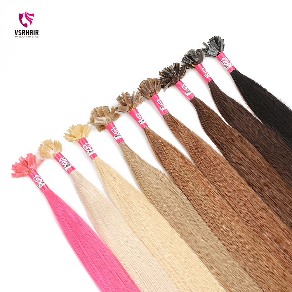 VSR 100% Human Hair Double Drawn Thickness Bottom Fusion Hair For Salon Especially  Keratin Hair Extension