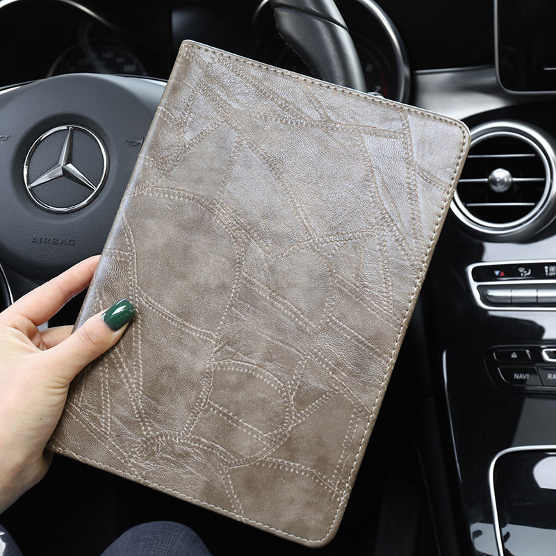 gray Blue Smart Case For iPad 2019 10 2 A2200 A2232 Luxury Business Silicon Leather Cover for ipad