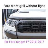 for Ford ranger T7 2016 2017 ABS grille LED front grille surrounds trim with or without light 4 colors available high quality
