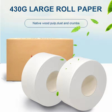 1 Roll 4 ply Jumbo Roll Toilet Paper Soft Tissue Household Roll Paper Adjunct Non-Smell Paper Towels for Home Public Hotel