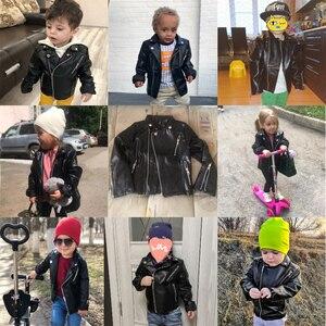 Image 4 - Jongens Pu Jas Lente Herfst Kinderen Motorfiets Lederen 1 7 Jaar Oud Fashion Kleur Diamond Gewatteerde Rits Meisjes jas Cool
