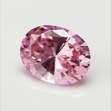 Ogromna nieogrzewana 56 58ct VVS różowa cyrkonia 18X25mm owalny krój AAAA + kamienie szlachetne luzem tanie tanio NASIA N STYLE NGSTC Różowy Grzywny Kryształ
