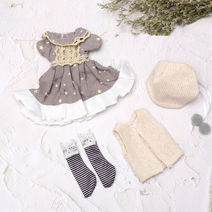 New BJD Doll Accessories 30 Cm 10 Inch Doll Clothes Set Children DIY Fashion Dress Up Kids Toy Clothes Best Gifts for Girls