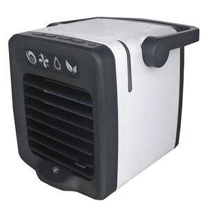 Usb mini condicionador de ar portátil arctic refrigerador de ar umidificador purificador de luz led ventilador espaço pessoal ventilador de refrigeração de ar|Vent.| |  -