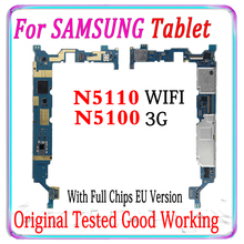 משלוח חינם מקורי עבור Samsung Galaxy הערה 8.0 N5100 N5110 האם אירופה גרסת סמארטפון mainboard עם שבבי MB צלחת