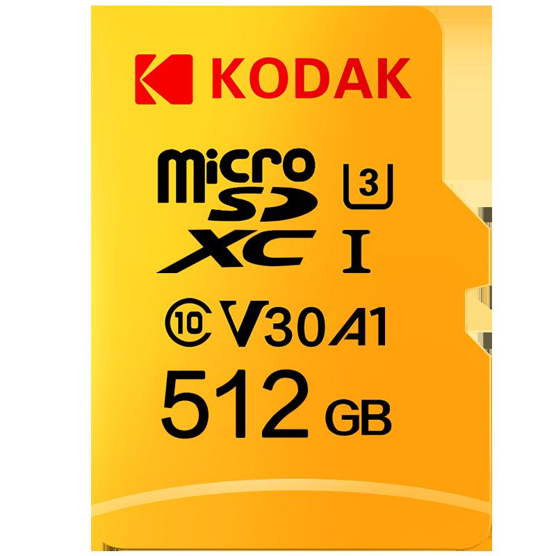 Original kodak u3 a1 v30 micro cartão sd 128 gb 32 gb 64 gb 256 gb 512 gb classe 10 cartão de memória 32 64 128 256 gb vídeo cartão de memória do telefone