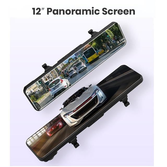 "OBEPEAK 12"" IPS Car DVR Rearview Mirror RAM 4G + ROM 32G Android 8.1 Wifi 3 Split Screen ADAS Dual Dash Cam Car Video Recorder 4"