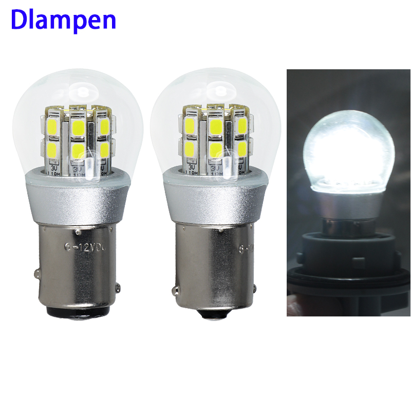 Super White 1156 BA15S 1157 BAY15D Py21w Canbus Led Interior Light 4W Dc 48V Electric Vehicle Turn Signals Bulb Glass Shell Lamp