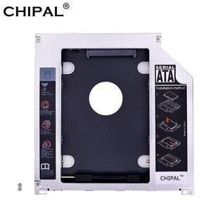 CHIPAL 2nd HDD SSD Hard Drive Caddy Aluminum Optibay 9.5mm SATA 3.0 Enclosure Case for Macbook Pro 13