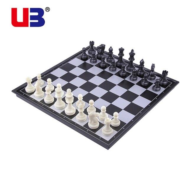 Jeu magnétique, grand jeu d'échecs pliant noir et blanc or et argent, jeu d'échecs 2