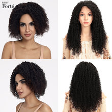 Remy Forte Lace Front Human Hair Wigs 13x4 Frontal Wig Curly Short Real 100% Brazilian