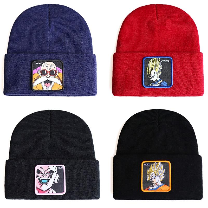 Dragon Ball Z MAJIN BUU Beanie Cotton Casual Skullies Men Women Warm Knitted Winter Hat Solid Unisex Cap KAME VEGETA GOKU