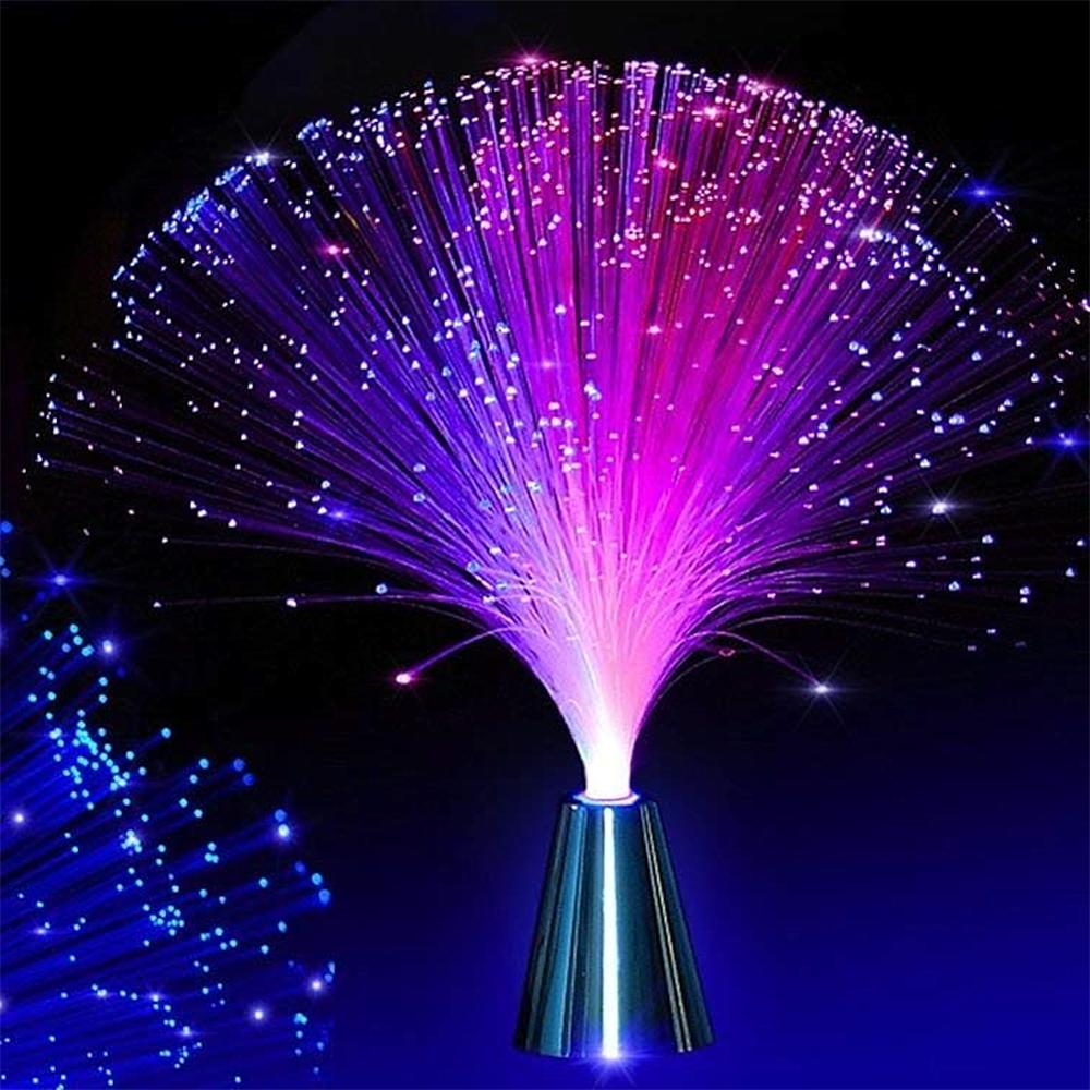 Multicolor LED Fiber Optic Lamp Light Interior Decoration Centerpiece Holiday Wedding Lamp LED Night Light Lamp