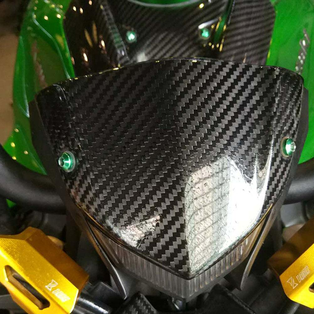 Motorcycle Carbon Fiber Windshield Cover Meter Housing Wind Shield For Kawasaki Z1000 Motorcycle Accessories
