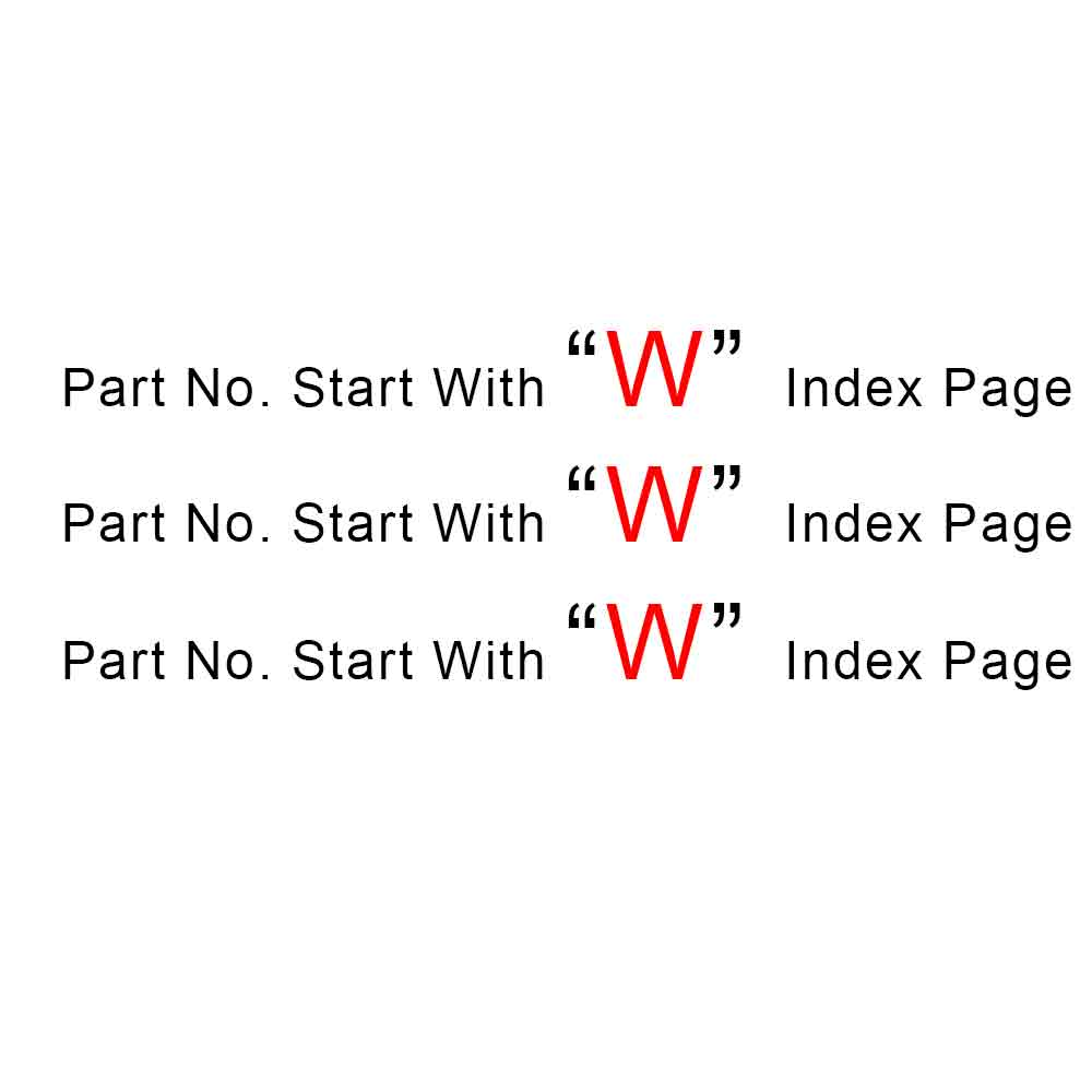 Start With W Index Page