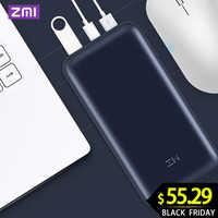 Banco de energía ZMI 20000mAh 15000mAhUSB-C PD 2,0 banco de energía batería externa cargador portátil 3,0 tipo C para Macbook