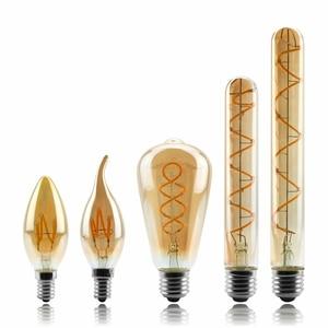 Image 1 - Âm Trần Edison Đèn 4W 2200K C35 T45 A60 ST64 G80 G95 G125 Xoắn Ốc Đèn LED Dây Tóc Bóng Đèn Retro đèn Chiếu Sáng Trang Trí