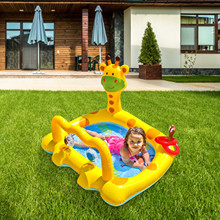 Paddling Pool Lawn Swimming-Pool-Thickened Fawn Inflatable Outdoor Kids Summer PVC Cartoon