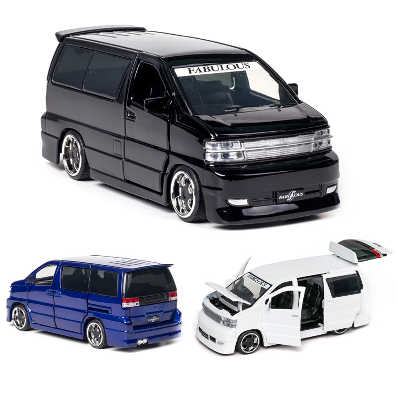 1:32 Nissan Elgrand Car Model Alloy Car Die-cast Toy Car Model Sound And Light Children's Toy Collectibles Free Shipping