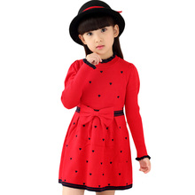 Girls Dresses Long Sweater Dresses For Girls Spring Autumn Teenage Party Dresses 2 4 6 8 9 10 12 14 Years Girls Clothes