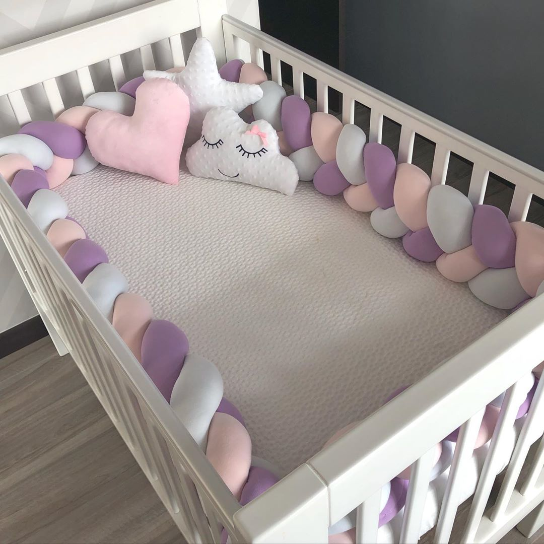 Baby Bumper Bed Braid Knot Pillow Cushion Bumper For Baby Decoration Room 3M 2M 1M Baby Bed Protection Newborn Bed Bumper
