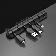 Cable-Organizer Cell-Phone-Accessories Cables Winder Wire-Holder Mouse Telephone Usb-Management-Clip-Holder