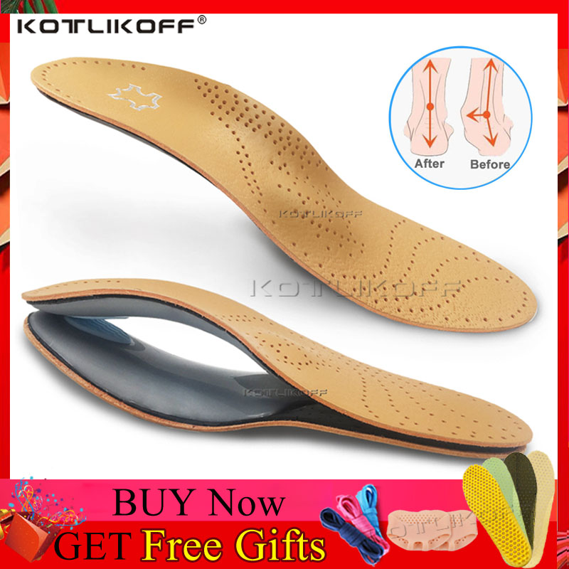 Leather Orthotic Insole For Flat Feet Arch Support Orthopedic Shoes Sole Insoles For Feet Men Women Children O/X Leg Corrected
