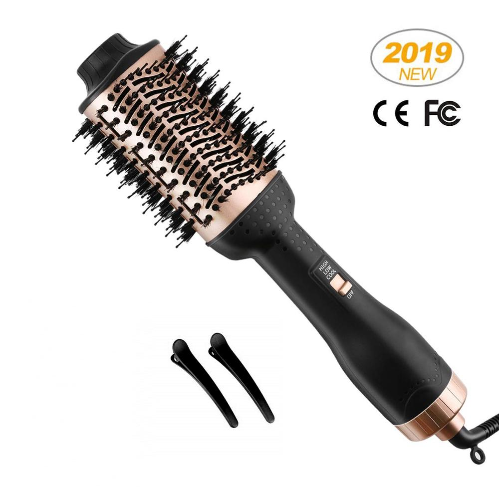 Professional One Step Hair Blow Dryer Brush And Volumizer Hot Air Curling Iron Roller 3 In 1 Smooth Frizz With Ionic Technology