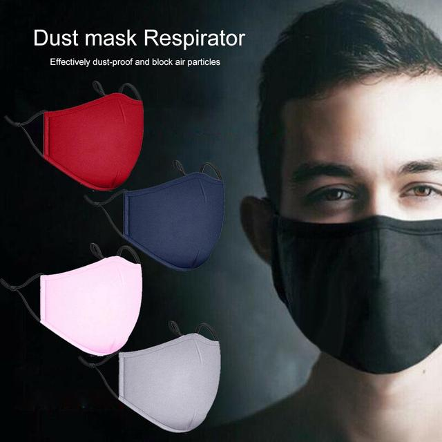 PM2.5 Cotton Adult Mouth Mask Anti Dust Mask Activated Carbon Filter Windproof Mouth-muffle Bacteria Proof Flu Ride Face Masks 2