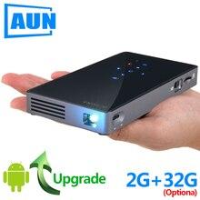 アウンミニプロジェクター D5S (P8I) 、アンドロイド 7.1 (2 グラム + 32 グラム) 5 グラム無線 lan 、 5000 バッテリー、ポータブル LED プロジェクター用 1080 1080p ビデオ、 3D ビーマー