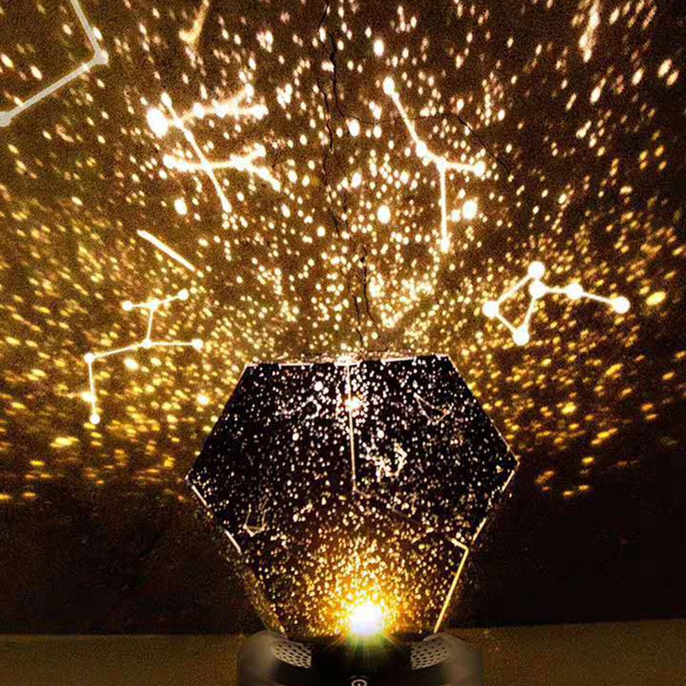 Star Light Roof Projection Night Light 3D Led Flood Light 3 Color Rotating Sky Projection Lamp Bedroom Star Romantic Lamp Gifts