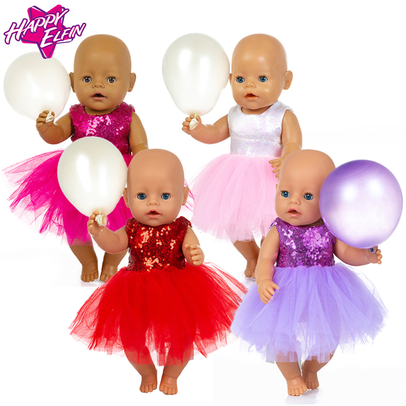 Fit 17 Inch Born New Baby 43cm Doll Clothes Accessories Red Purple White Creative For Baby Festival Gift