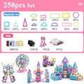 258 Pcs Mini Magnetische Blokken Modellering & Bouw Speelgoed Reuzenrad Magnetische Designer Educatief Speelgoed Voor Kinderen