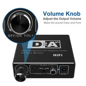 Image 4 - Digital zu Analog Audio Converter Optical Toslink Koaxial zu Analog CINCH L/R 3,5mm Jack Audio Adapter für xbox HD DVD Blu ray PS3