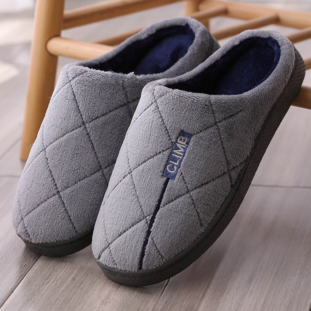 Fur Fluffy Men's Flat For Winter Warm Non-slip Wooden Floor Home Flock Slippers Indoor Man's Shoes Size 40-45 обувь мужская