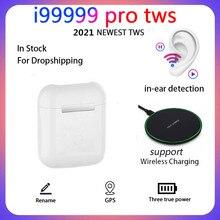 Original i99999 pro tws 1:1 gps renomear 2nd fones de ouvido sem fio bluetooth tws i99999 pro android pk i9999 tws fones de ouvido