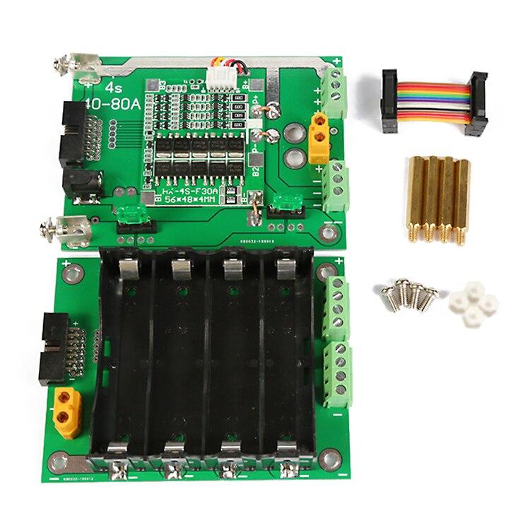 Image 3 - 16V 18650 Battery Holder diy Power Bank 4S BMS Battery Balancer 30A 90A 16V Battery Box for diy Kit Ebike Electric Car BatteriesBattery Storage Boxes   -