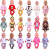 Cute Pajamas Dress For 18 Inch American Doll Accessory Girl Toy 43 cm Born Baby Clothes Accessories Our Generation