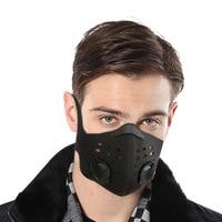 Outdoor sports anti cold magic head wiszące ucho maska na motocykl PM2.5 regulowany rozmiar można wymienić można wyczyścić maska z filtrem w Maska kolarska na twarz od Sport i rozrywka na