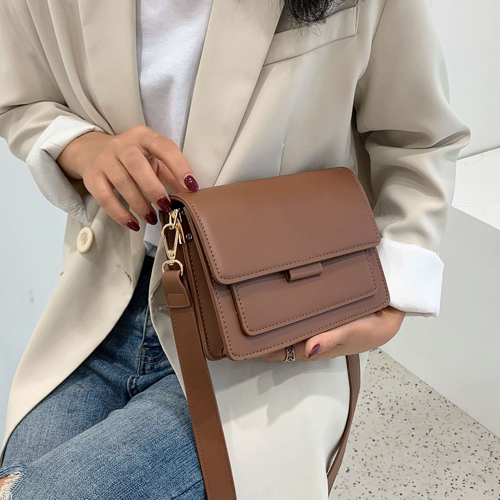 Solid Color PU Leather Crossbody Bags For Women 2020 Luxury Quality Shoulder Messenger Bag Female Handbags and Purses